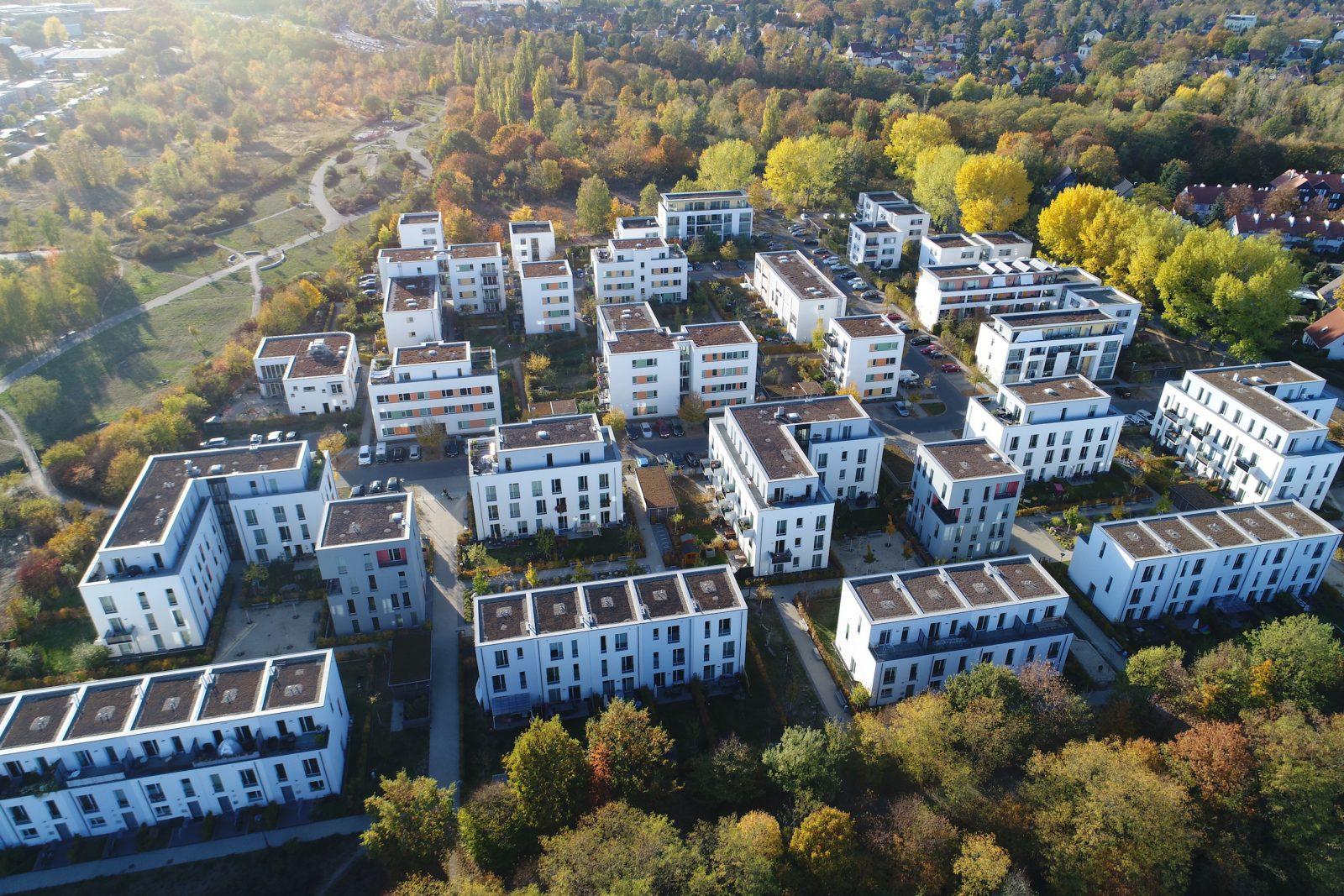 Neubau der Wohnsiedlung Neue Gartenstadt Falkenberg I und II