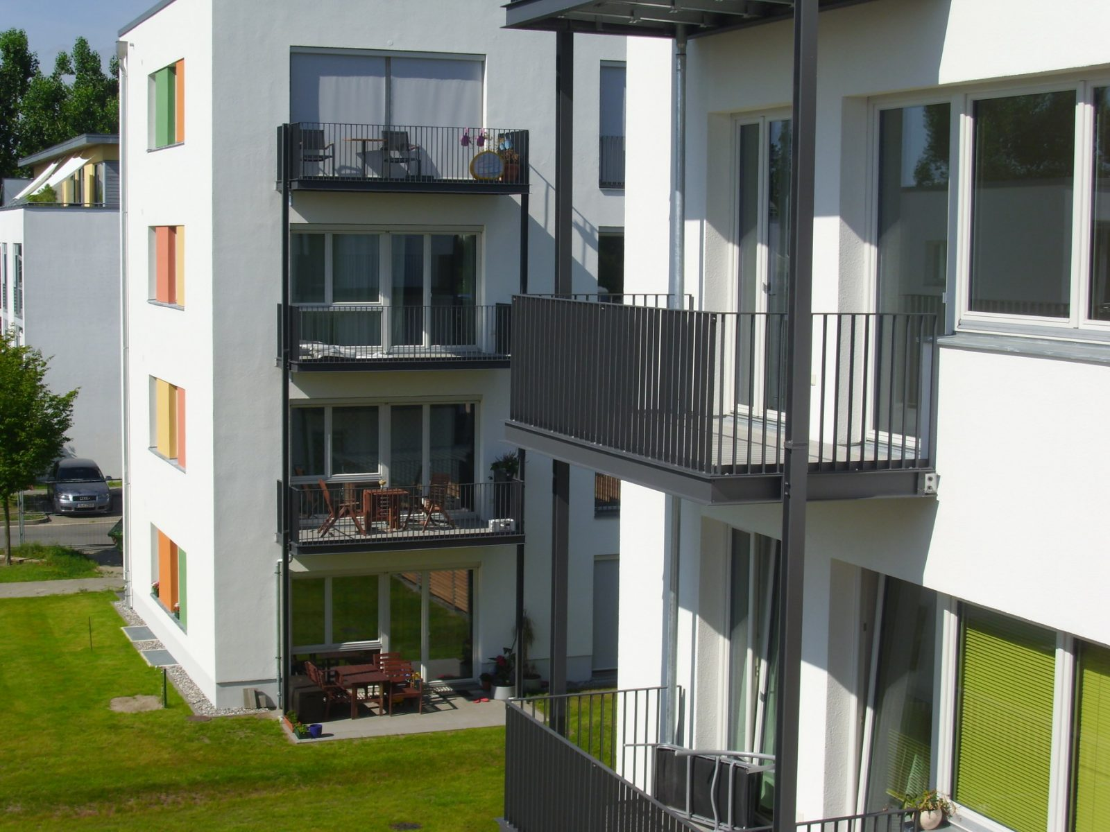 Fassade Niedrigenergiehaus – Neubau Gartenstadt Falkenberg I