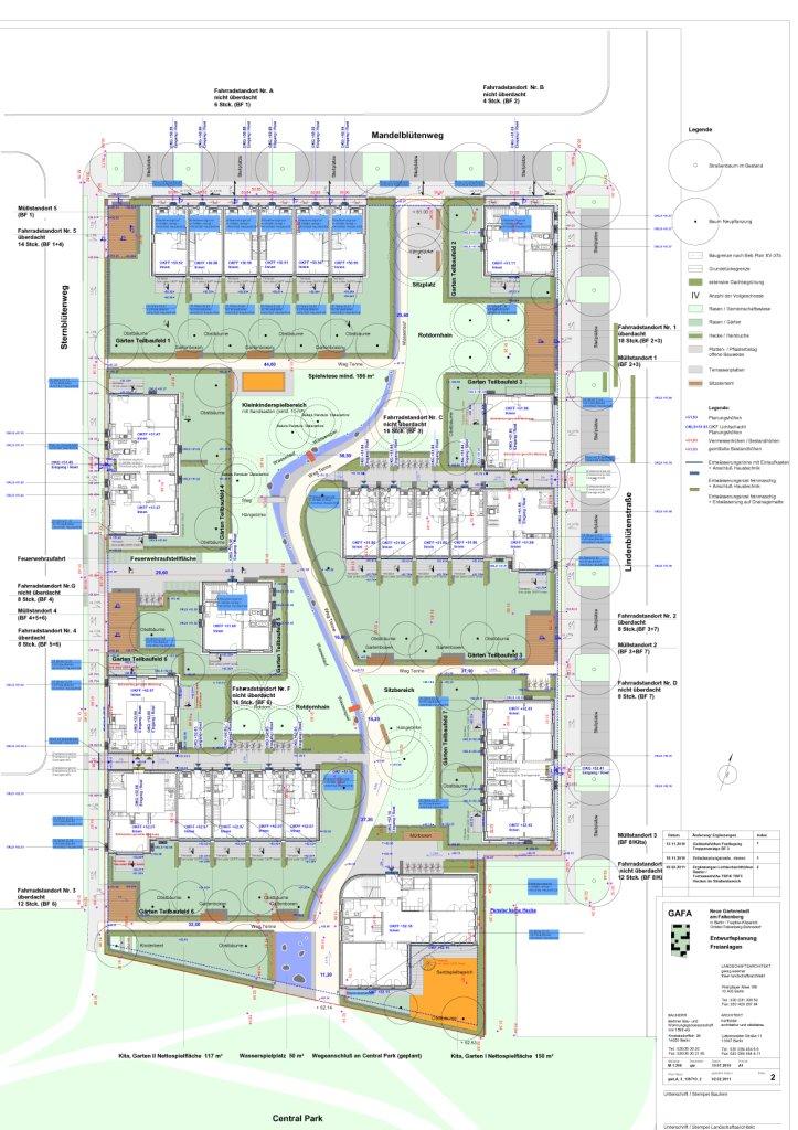 Lageplan – Neubau Gartenstadt Falkenberg I