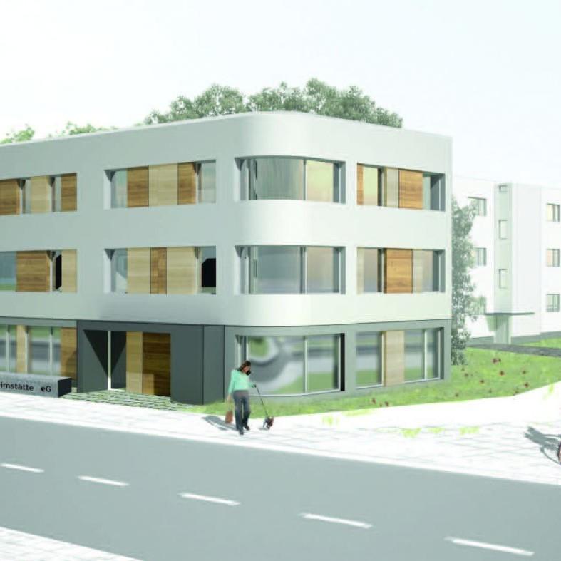 Neubau eines Wohn- und Geschäftshauses Heerstraße, Berlin-Charlottenburg